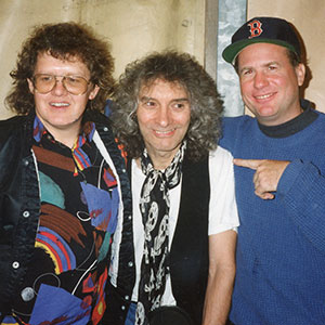 With Albert Lee (center) and Paul Beauvan