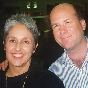 With Joan Baez